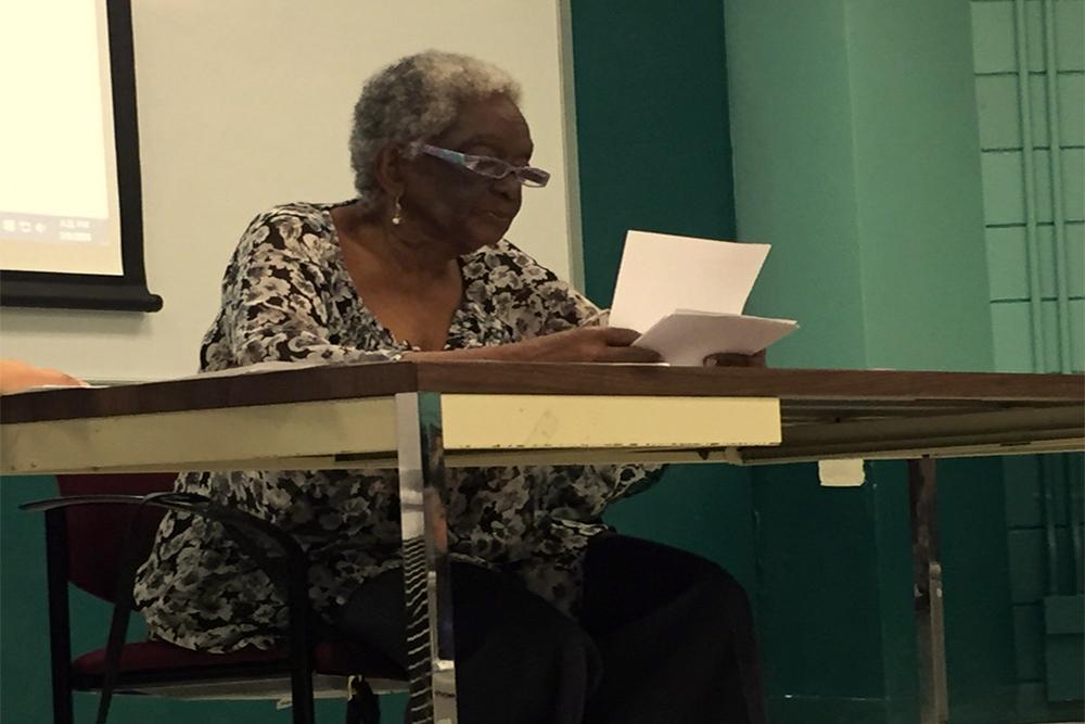 La poeta cubana Georgina Herrera.