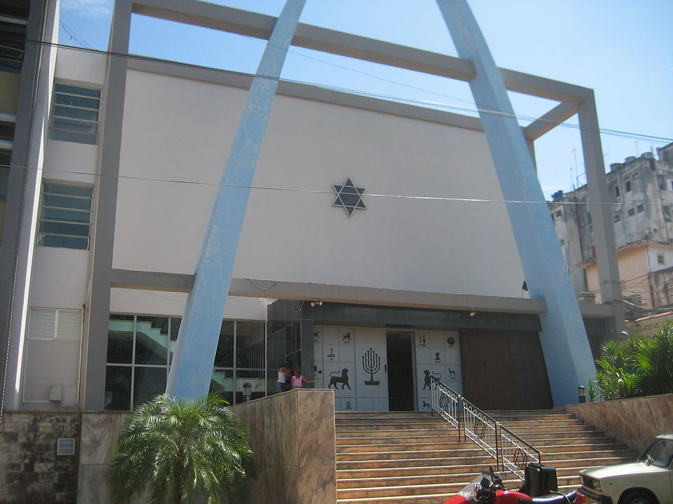 Templo Beth Shalom in Havana, Cuba. De NYC2TLV - Trabajo propio, CC BY-SA 3.0, https://commons.wikimedia.org/w/index.php?curid=6424094