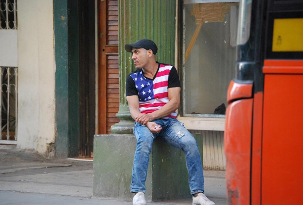 La bandera de EEUU está de moda en Cuba