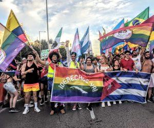 Cubanos en el Orgullo de Madrid: «¡Derechos ya!»